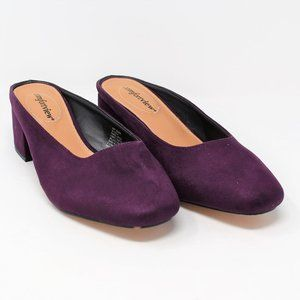 NEW Comfortview Judy Mules Mulberry Heels 8.5WW